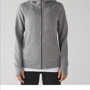 Lululemon Women's Gray Scuba Hoodie Jacket Sz6